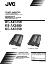 JVC KS-AX6350 Instructions Manual 20 pages