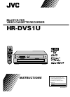 JVC HR-DVS1MS Instructions Manual 84 pages