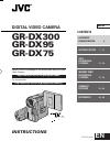 JVC GR-DX100 Instructions manual