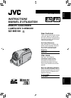 JVC Everio GZ-MS100 Instructions manual