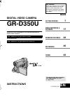 JVC GR-D350UC Instructions manual