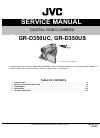 JVC GR-D375US Service manual