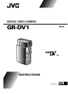 JVC GR-DV1EG Instructions manual