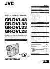 JVC GR-DVL20 Instructions manual