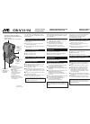 JVC 0398AYV*UN*SW Instructions 2 pages