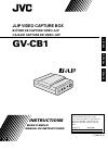 JVC GV-CB1EG Instructions Manual 68 pages