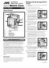 JVC WR-DV1U Operation & User's Manual 8 pages