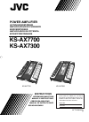 JVC KS-AX7300 Instructions Manual 20 pages