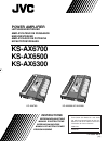 JVC KS-AX6700 Instructions Manual 20 pages
