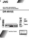 JVC DR-MV5BEU Instructions Manual 88 pages