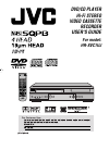 JVC HR XVC1U - DVD-VCR Combo Operation & User's Manual 60 pages