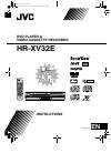 JVC HR-XV32E Instructions Manual 84 pages