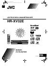 JVC HR-XV32E Manuel D'utilisation 84 pages