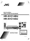 JVC HRXVC14B - DVD/VCR Instruction Manual 36 pages