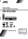 JVC HR-XVC33UM Instructions Manual 192 pages