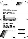 JVC HR-XVC33U Instructions Manual 96 pages