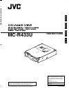 JVC MC-R433U Instructions Manual 32 pages