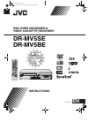 JVC DR-MV5BE Instructions Manual 100 pages