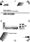 JVC HR-XV28S Instructions Manual 44 pages