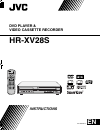 JVC HR-XV28S Instructions Manual 40 pages