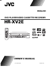 JVC HR-XV2E Owner's Manual 41 pages