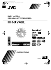 JVC HR-XV48E Instructions Manual 72 pages
