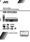 JVC HR-XVC26U Instruction Manual 92 pages