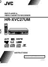 JVC HR-XVC27UM Instruction Manual 88 pages