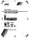 JVC HR-XVC33UM Instructions Manual 92 pages