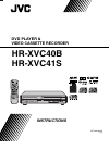 JVC HR-XVC40B Instructions Manual 37 pages