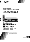 JVC HR-XVS20AA Instructions Manual 100 pages
