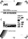 JVC HR-XVS20EK Instructions Manual 100 pages