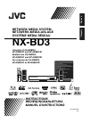 JVC NX-BD3 Instructions Manual 156 pages