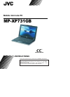 JVC MP-XP731GB Instructions Manual 132 pages