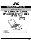 JVC MP-XV941DE Service Manual 16 pages