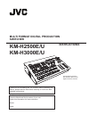 JVC KM-H2500 Instructions Manual 56 pages