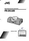 JVC FR-DS100 Instructions Manual 22 pages