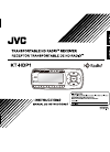 JVC HD RADIO KT-HDP1 Instructions Manual 38 pages