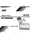 JVC KT-SR2000 - Sirius Satellite Radio Tuner Instructions Manual 32 pages