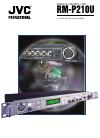 JVC RM-P210U Manual 4 pages