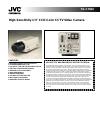 JVC TK-C700U - Color Cctv Camera Specifications