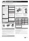 JVC VU-V856KIT Operation & User's Manual 1 pages