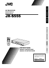 JVC JX-S555 Instructions Manual 29 pages