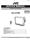 JVC AV-21PM Service Manual 28 pages