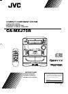 JVC CA-MXJ75R Instructions Manual 36 pages