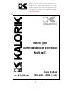 Kalorik USK FHG 30035 Operating Instructions Manual 32 pages