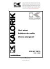 Kalorik USK FHG 30035 Operating instructions manual