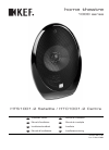 KEF 1000 Series KHT1005.2 Installation Manual 12 pages
