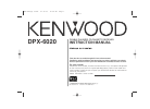 Kenwood DPX-6020 Instruction Manual 46 pages