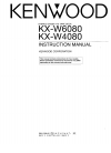 Kenwood KX-W6080 Instruction Manual 26 pages
